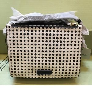 New Fossil Campbell Crossbody Bag with Dots